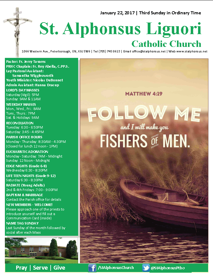 St Alphonsus Bulletin